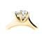 Yellow Gold Brilliant Cut Diamond Engagement Ring Thumbnail 2