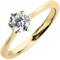 Yellow Gold Brilliant Cut Diamond Engagement Ring Thumbnail 3