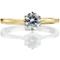 Yellow Gold Brilliant Cut Diamond Engagement Ring Thumbnail 4