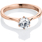 Rose Gold Brilliant Cut Diamond Engagement Ring Thumbnail 1