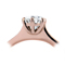 Rose Gold Brilliant Cut Diamond Engagement Ring Thumbnail 2