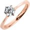 Rose Gold Brilliant Cut Diamond Engagement Ring Thumbnail 3