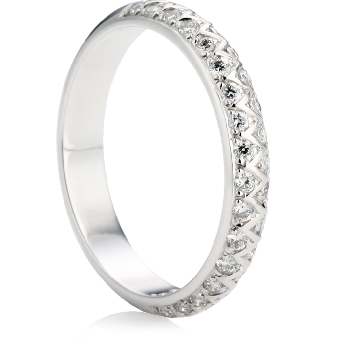 Brilliant Cut Half Eternity Ring Thumbnail 1