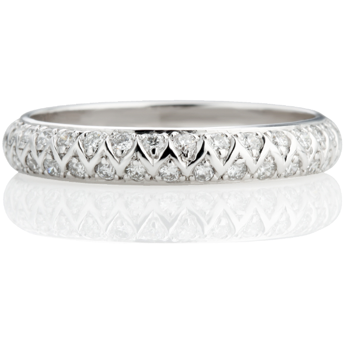 Brilliant Cut Half Eternity Ring Thumbnail 2