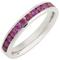 Brilliant Cut Ruby Channel Set Half Eternity Ring Thumbnail 2