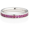 Brilliant Cut Ruby Channel Set Half Eternity Ring Thumbnail 3