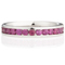 Brilliant Cut Ruby Channel Set Half Eternity Ring Thumbnail 4