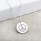 Silver Pendant with Laser Engraved Peace Symbol Thumbnail 1
