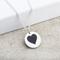 Heart Laser Engraved Silver Pendant Thumbnail 1
