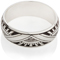 Art Deco Design Laser Engraved Ring Thumbnail 3