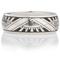 Art Deco Design Laser Engraved Ring Thumbnail 4