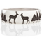 Deer and Forest Silhouette Laser Engraved Ring Thumbnail 4
