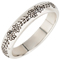 Floral Doodle Designed Decorative Laser Engraved Ring Thumbnail 2