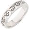 Lotus Flower Designed Laser Engraved Ring Thumbnail 2