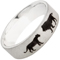 Lion and Lioness Laser Engraved Ring Thumbnail 2