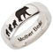 Mother Bear Laser Engraved Ring Thumbnail 2