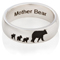 Mother Bear Laser Engraved Ring Thumbnail 3