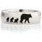 Mother Bear Laser Engraved Ring Thumbnail 4