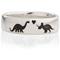 Dinosaur Designed Laser Engraved Ring Thumbnail 4