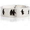 Penguin Designed Laser Engraved Ring Thumbnail 4