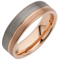 Tungsten Carbide Ring with Rose Gold IP Plating Thumbnail 2