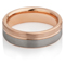 Tungsten Carbide Ring with Rose Gold IP Plating Thumbnail 3