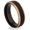 Rose Gold and Black IP Plated Tungsten Carbide Ring Thumbnail 1