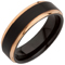 Rose Gold and Black IP Plated Tungsten Carbide Ring Thumbnail 2
