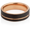 Black and Rose Gold IP Plated Tungsten Carbide Ring Thumbnail 3