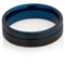 Black and Blue IP Plated Tungsten Carbide Ring Thumbnail 3