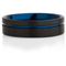 Black and Blue IP Plated Tungsten Carbide Ring Thumbnail 4