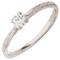 18ct White 2mm Sandcast Engagement Ring Thumbnail 2