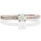 18ct White 2mm Sandcast Engagement Ring Thumbnail 4