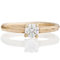 2mm Wide 9ct Yellow Gold Sandcast Engagement Ring Thumbnail 4