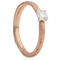 2mm Wide 9ct Rose Gold Sandcast Engagement Ring Thumbnail 1