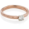 2mm Wide 9ct Rose Gold Sandcast Engagement Ring Thumbnail 2