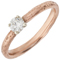 2mm Wide 9ct Rose Gold Sandcast Engagement Ring Thumbnail 3