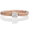2mm Wide 9ct Rose Gold Sandcast Engagement Ring Thumbnail 4