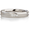 Diamond Set Steel Ring with a Central Channel Thumbnail 4