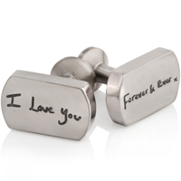 Titanium Cufflinks with I Love You Forever and Ever