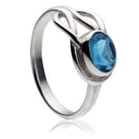 Fancy Blue Topaz cut stone ring