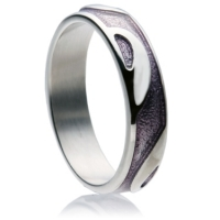 Purple Enamel Band Ring