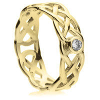 6mm Celtic Knot Diamond Ring