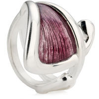 Silver Purple Enameled Ring
