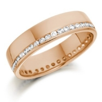 Rose Gold Brilliant Cut Diamond Ring
