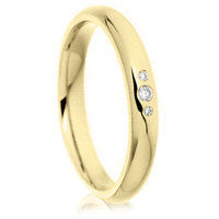 18k yellow gold brilliant cut diamond ring