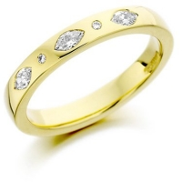 Brilliant and Marquise Cut Diamond Ring