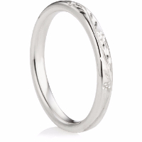 Decorative Wedding Ring in 2.5mm