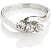 Brilliant Cut Diamond Trilogy Engagement Ring (0.30ct)