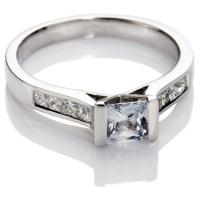 Princess Cut Diamond Solitaire Engagement Ring.